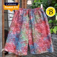 Celana Pendek 3/4 Kolor Batik Pria dan Wanita