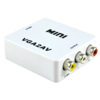 Vga to av audio 1080p converter mini box adapter-Konverter vga to rca