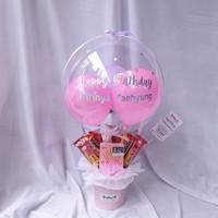 Bouquet Balon/Buket Balon Box isi Beng-Beng dan Pocky - tjeplis.id