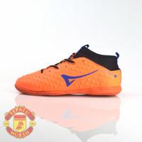 Sepatu Futsal Ardiles Lithium - Orange/Biru Royal