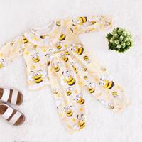 Setelan Baju Tidur Anak Perempuan Bee Lebah Umur 1 - 2 Tahun   Kuning