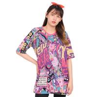 Monellina ASMIRA Baju Kaos Atasan XXL Lengan Pendek Wanita