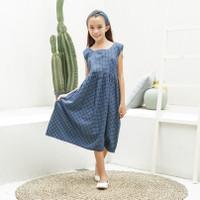 Dress Anak Perempuan TinyTales Bella Usia 8 9 10 11 Tahun Navy - L