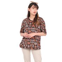 Monellina LALIKA Baju Kaos Atasan Batik XXL Jumbo Lengan Pendek Wanita