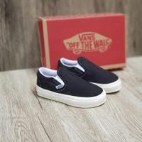 Sepatu Anak Kids Vans Slop OG Black White Unisex