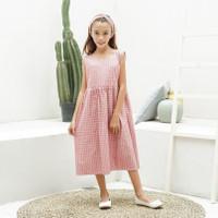 Dress Anak Perempuan TinyTales Bella Usia 8 9 10 11 Tahun Pink - L