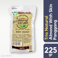 Trio Natural - Almond Natural with Skin (Roasted) 225gr - Panggang