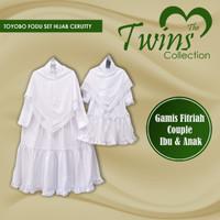 Gamis Putih Polos Baju Manasik Haji Couple Ibu Anak Terbaru Toyobo