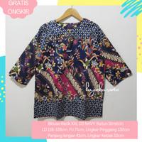 Baju Blouse Atasan Blus Batik Top Jumbo Big Size Wanita Cewek XXL03NAV