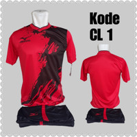 1 lusin/12 set baju kaos olahraga jersey stelan futsal voley bola CL-1