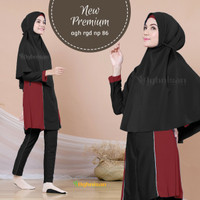 Baju Renang Wanita Muslim Muslimah Polos Syari New Premium Aghnisan