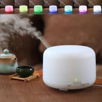 Alat Aroma Terapi Ruangan Uap Pelembab Udara 7 Warna Lampu Tidur Kamar
