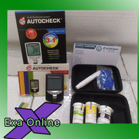 Autocheck 3 in 1 test glukosa test cholestrol test asam urat