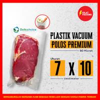 PLASTIK VACUUM VACUM BAG SEALER MAKANAN POLOS DELKOCHOICE SATUAN 7x10