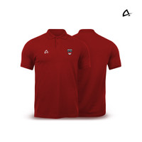 Polo Shirt Pria Bordir Regular Fit Supporter Team INA by Keiron -Merah