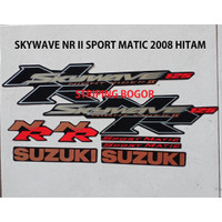 Striping Stiker Motor Suzuki Skywave NR 2 Sport Matic 2008 Hitam