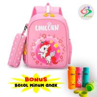 Tas Ransel Sekolah Anak SD karakter Unicorn Kuda poni