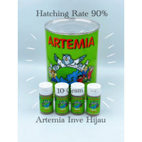 ARTEMIA INVE HIJAU REPACK 10 GRAM NETTO