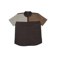 Baju Kemeja Koko Anak Laki-laki Umur 4 Sampai 14 Tahun - Arkids Stuff - Cokelat, 4