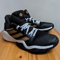 (BNIB) ORIGINAL Sepatu Basket Adidas Harden Stepback - Black / Gold
