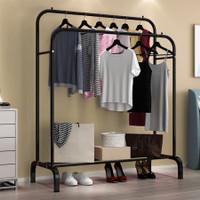 Gantungan Baju Besi Stand Hanger Pakaian Gantungan Baju Berdiri