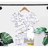 T-Shirt MATH L / BAJU KAOS WANITA L KOREA OVERSIZE KATUN COMBED30s