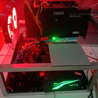 mining rig 1 VGA RX 5500xt 8 gb speed 28 mh masih garansi vganya