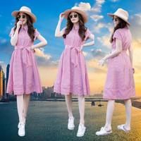 Dress Wanita Salur/Midi Dress Korea Katun/Dress Fashion Kekinian