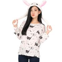 Monellina GRIZEL Baju Kaos Atasan XXL Jumbo Lengan Panjang Wanita