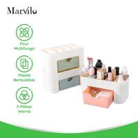 Marvilo Rak Makeup Kosmetik Serbaguna Bahan Plastik 3 Pcs