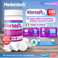 MEDENTECH - Klorsept 25 / Desinfektan Ruangan / Antiseptik Tablet