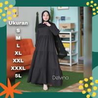 Baju gamis wanita ABDELVINA Jumbo terbaru Dress Polos Fashion Muslim