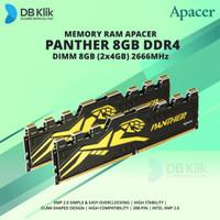 Memory RAM Gaming APACER PANTHER DDR4 DIMM 8GB (2x4GB) 2666 MHz