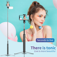 Tongsis Bluetooth Tripod With Led and Remote Shutter Tripod 170cm
