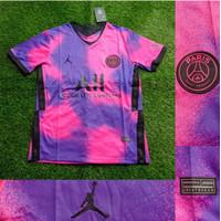 Jersey Baju Bola Paris Saint Germain PSG 4th Pink 2021 GO Big XXL 2XL