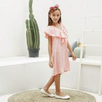 Dress Anak Perempuan TinyTales Rose Usia 8 9 10 11 Tahun Pink - L