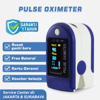 Oximeter Biru - Oxymeter Oksimeter Fingertip Pulse Oksigen Meter SpO2