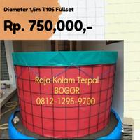 kolam bundar Fullset diameter 1.5m tinggi 105cm