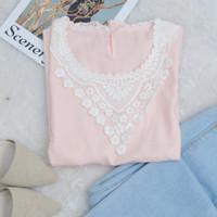 Blouse Import wanita Vee Flower All size / Atasan Wanita - pink