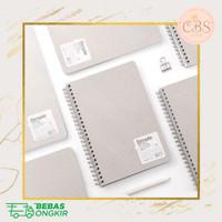 Simple Grey Sand Spiral Notebook A5 B5 - A5, GRID
