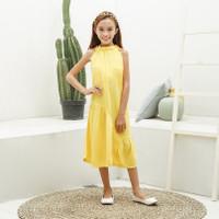 Dress Anak Perempuan TinyTales Chacha Usia 6 7 8 9 10 Tahun Kuning - M