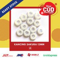 Kancing sakura 13mm / Kancing sakura putih / Kancing baju / Lusinan