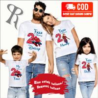 KAOS COUPLE FAMILY CUSTOM BAJU ULANG TAHUN ANAK TEMA SPIDERMAN