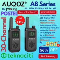 AUQOZ A8 Handy Mini Walkie Talkie - Radio HT New 888s by Pofung