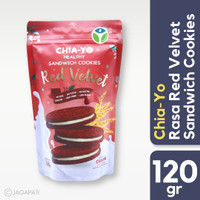 Chia-Yo - Sandwich Cookies Red Velvet 120gr - Cemilan Diet