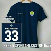 T-shirt Kaos Distro PERSIB BANDUNG SPORTAMA CUSTOM NAMA