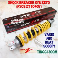 SHOCK BREAKER BELAKANG KYB ZETO VARIO BEAT SCOOPY MIO XEON ZT1040 - Kuning