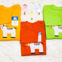 piyama lengan panjang usia 6-12 bulan baju anak lucu 6-12 bayi moti