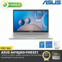 ASUS A416JAO-FHD321 (14FHD,i3-1005G1/UMA/4G/256G PCIE+HOUSING/SILVER)