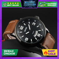 SKMEI Casual Men Leather Strap Watch Water Resistant 30m - 9115CL